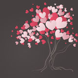Love tree with heart leaves. Vector illustration Stock Photo