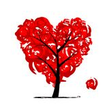 Love tree, heart shape for your design Stock Images