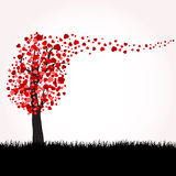 Love tree with hearts Royalty Free Stock Image