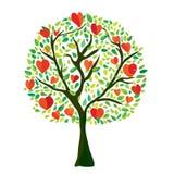 Love tree with hearts, Valentine card Royalty Free Stock Photo