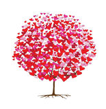 Love tree with hearts, valentine theme stock illustration