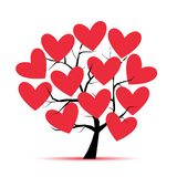 Love tree with hearts for your design Stock Photography