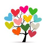 Love tree with hearts for your design Stock Photo