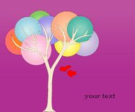 Love tree illustration Royalty Free Stock Photos