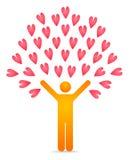 Love tree. Illustration of a love tree Stock Image