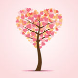 Love Tree. Illustration of tree in the shape of heart Royalty Free Stock Images