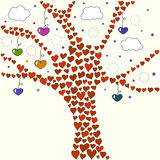 Love tree illustration Royalty Free Stock Photography