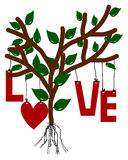 Love Tree illustration Stock Images