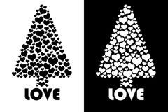 Love tree isolated Royalty Free Stock Image