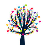Love tree isolated over white background royalty free illustration