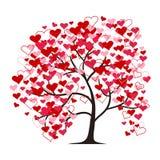 Love tree isolated on the white background. Illustration. Stock Photo
