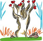 Love and tree of love Royalty Free Stock Photo