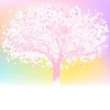 Love tree made of hearts with copy space. EPS 8 Stock Image