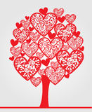 Love tree made of hearts Royalty Free Stock Photography