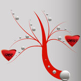 Love tree. Marriage Mr and Mrs Royalty Free Stock Images