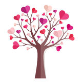 Love tree. Love paper tree isolated on white Stock Photo