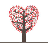 Love tree with space for text Stock Photos