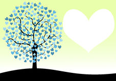 Love Tree Valentines Day Card Royalty Free Stock Photo