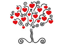 Love tree vector Stock Images