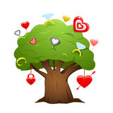 Love tree vector Royalty Free Stock Photo