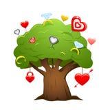 Love tree vector. Great detail illustration, love tree Royalty Free Stock Photo