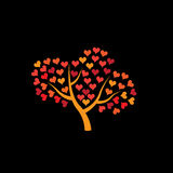 love tree vector Royalty Free Stock Image