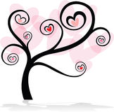 Love tree on white background Royalty Free Stock Images