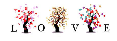 Love tree on white background isolate Stock Images