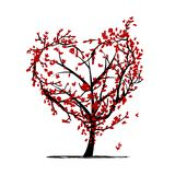 Love tree for your design Royalty Free Stock Photography