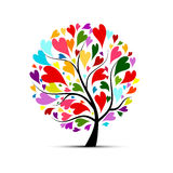 Love tree for your design. Vector illustration Stock Photo
