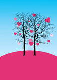 Love trees. Love trees for Saint Valentine's day Royalty Free Stock Image