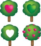 Love trees Stock Images