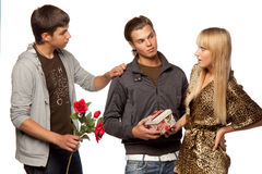 Love triangle Stock Image