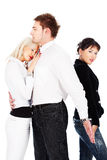 Love triangle Stock Images