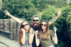 Love triangle, cheating, lovers royalty free stock photography