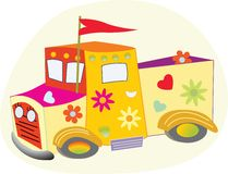 The Love Truck Stock Image