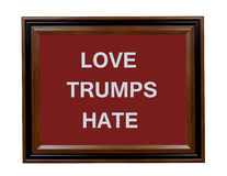 Love Trumps Hate sign Royalty Free Stock Images