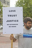 Love, Trust, Justice Sign Stock Photos