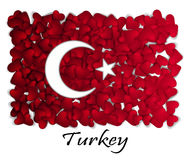 Love Turkey. Flag Heart Glossy. With love from Turkey. Made in Turkey. Turkey national independence day. Sport team flag. Ankara Stock Images