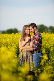 Love for two. On a fine spring meadow Stock Photography