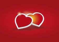 Love - Two hearts Stock Photos