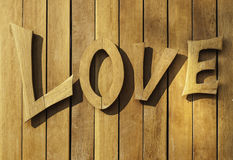Love type - wood carve Stock Photo