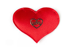 Love Typed in a Heart. Love Typed in a Heart on red heart Royalty Free Stock Images