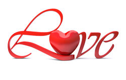 Love typographic concept Stock Image