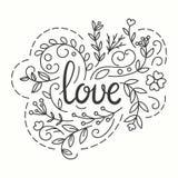 Love Typographics Design. Royalty Free Stock Photo