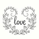 Love Typographics Design. Royalty Free Stock Photos