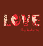 Love typography background. Vector illustration stock illustration