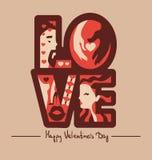 Love typography background Stock Photo
