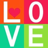 Love typography, t-shirt graphics. Vector illustration Stock Photos