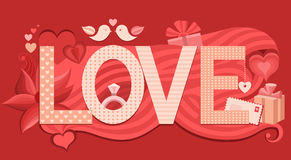 Love typography. Vector illustration Royalty Free Stock Image